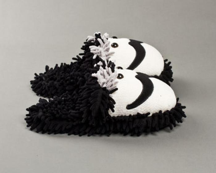 Fuzzy Moustache Slippers 2
