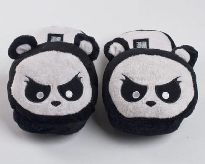 Angry Panda Slippers 1