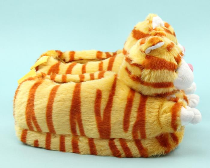 Orange Tabby Cat Slippers 2