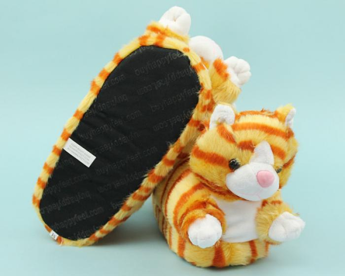 Orange Tabby Cat Slippers 3