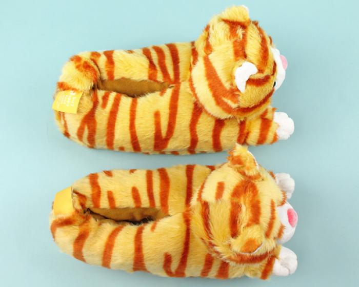 Orange Tabby Cat Slippers 4