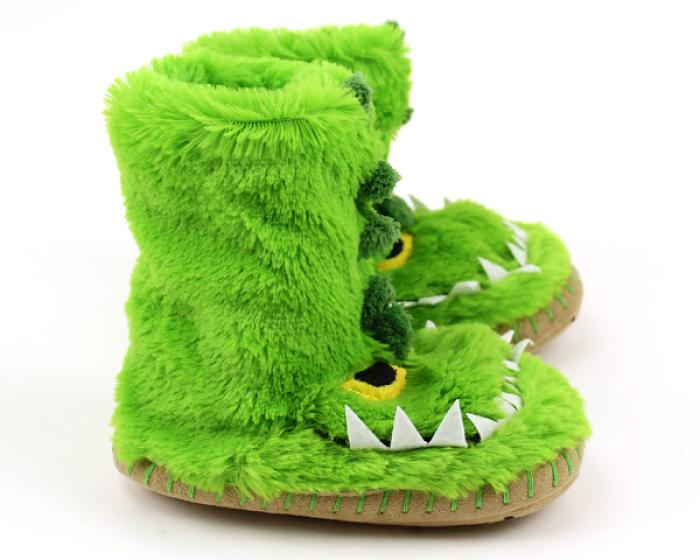 Children's Alligator Slouch Slippers 2