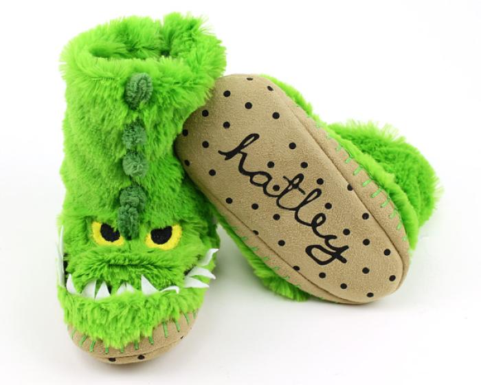 Children's Alligator Slouch Slippers 3