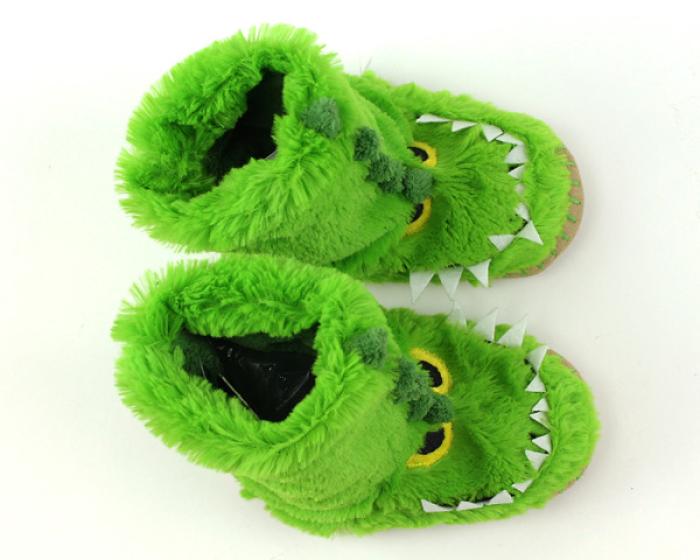 Children's Alligator Slouch Slippers 4