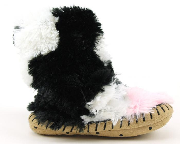 Children's Cow Slouch Slippers 2