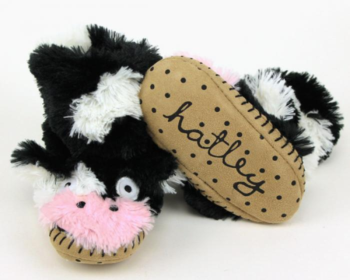 Children's Cow Slouch Slippers 3