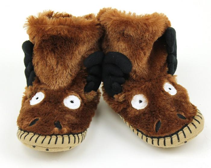 Children's Moose Slouch Slippers 1
