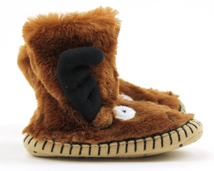 Children's Moose Slouch Slippers 2