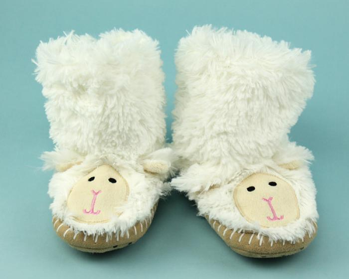 Kids Lamb Slouch Slippers 1