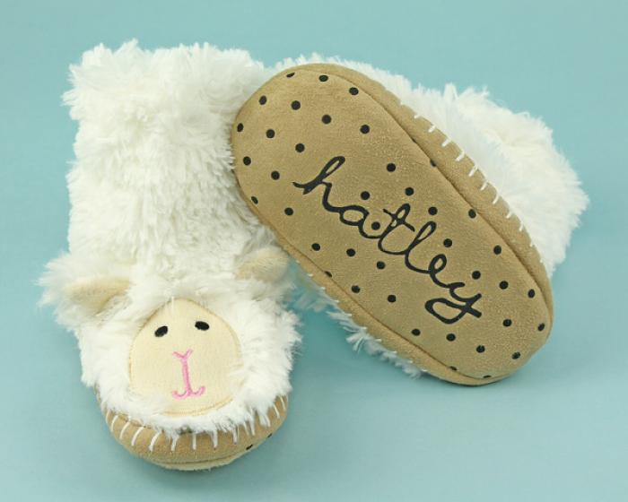 Kids Lamb Slouch Slippers 3