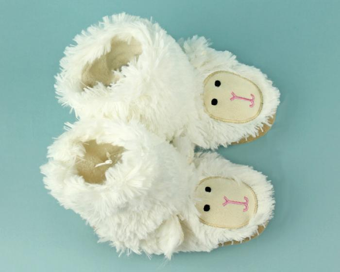 Kids Lamb Slouch Slippers 4