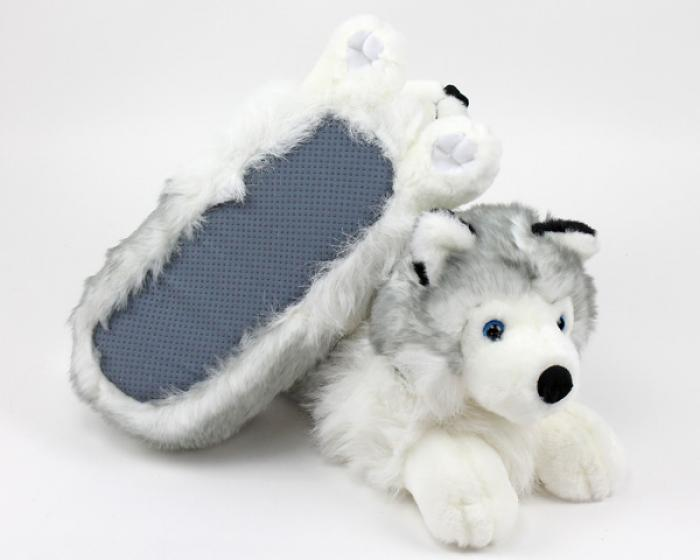 Husky Slippers Siberian Husky Slippers Husky Dog Slippers