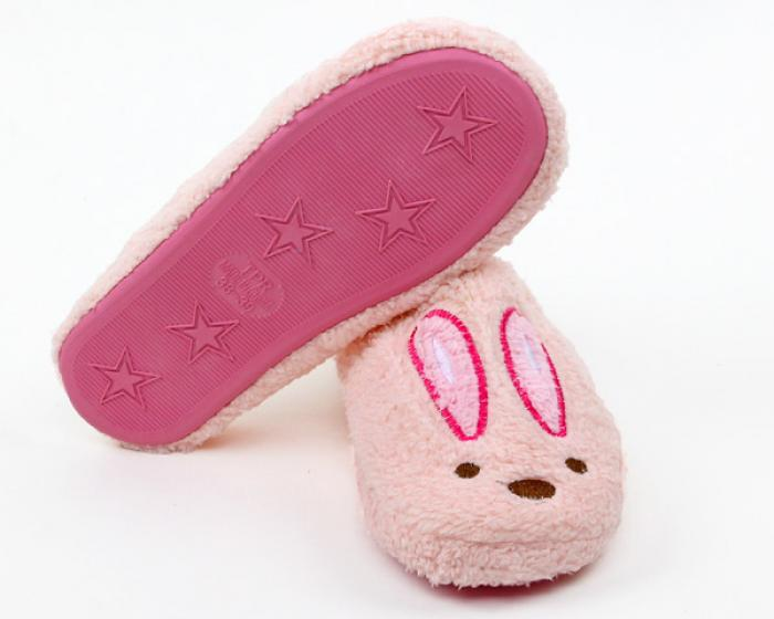 Fuzzy Pink Bunny Slippers 3