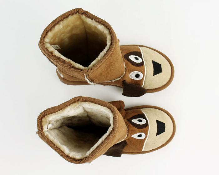 Kids Toasty Toez Dog Slippers Top View
