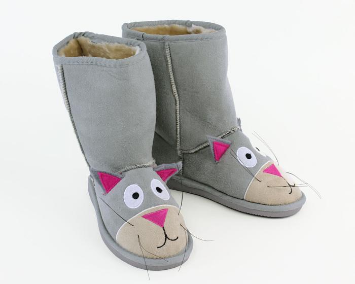 Kids Toasty Toez Cat Slippers