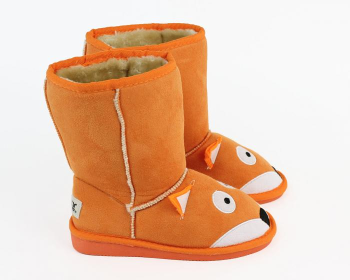 Kids Toasty Toez Fox Slippers Side View