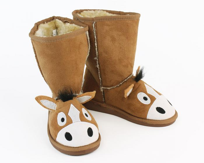 Kids Toasty Toez Horse Slippers