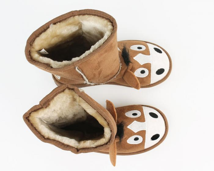 Kids Toasty Toez Horse Slippers Top View