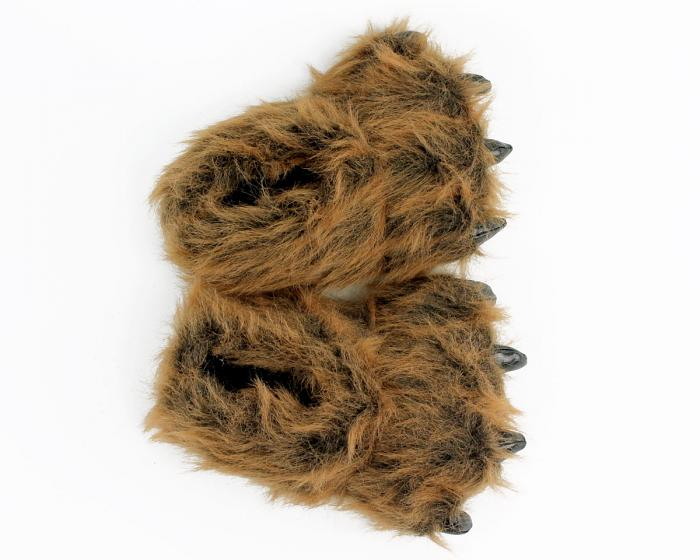 Kids Grizzly Bear Paw Slippers View 3