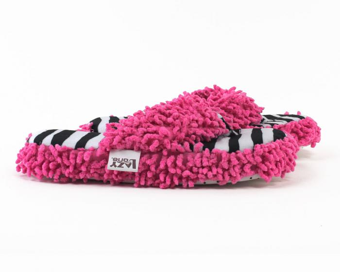 Zebra Stripe Spa Slippers Side View