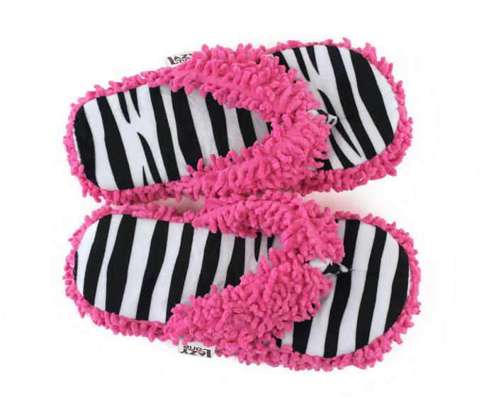 Zebra Stripe Spa Slippers Top View