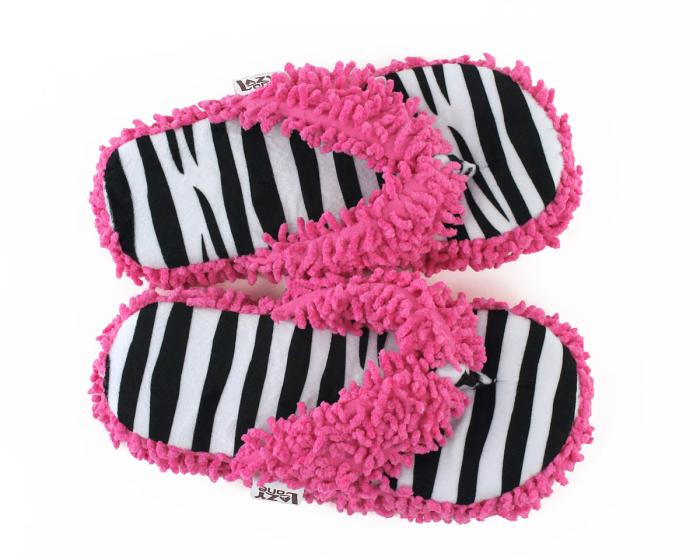 Zebra Stripe Spa Slippers Top View