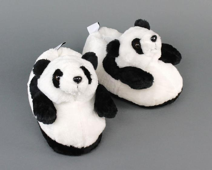 Panda Slippers 3/4 View