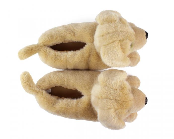 Yellow Lab Slippers Top View