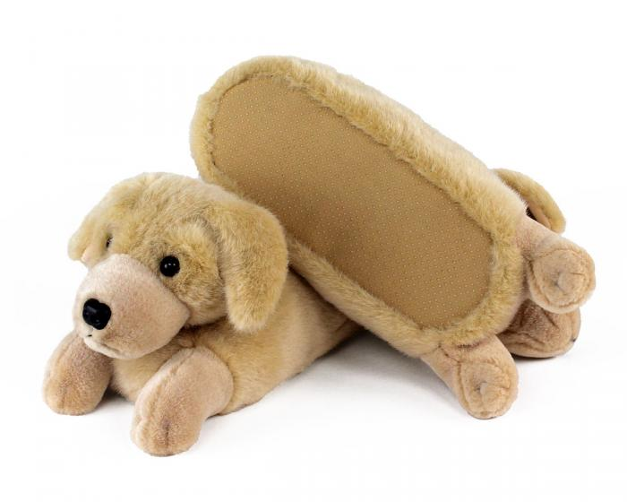 Yellow Lab Slippers Bottom View