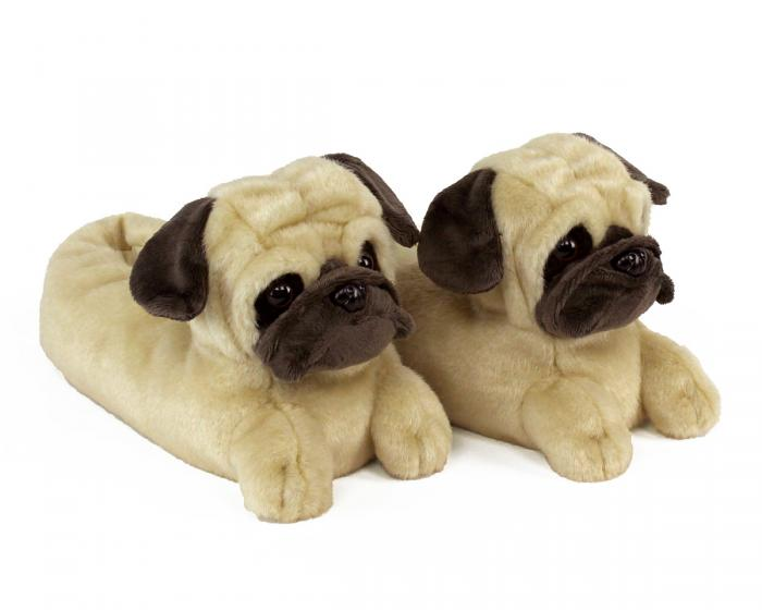 Pug Slippers 3/4 View