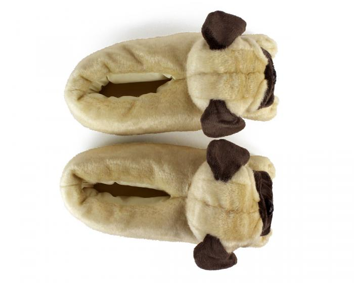 Pug Slippers Top View