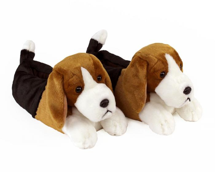 Beagle Slippers 3/4 View