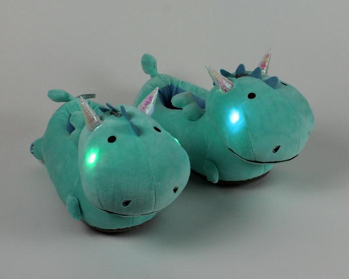 Dragon Light Up Slippers with lights on View