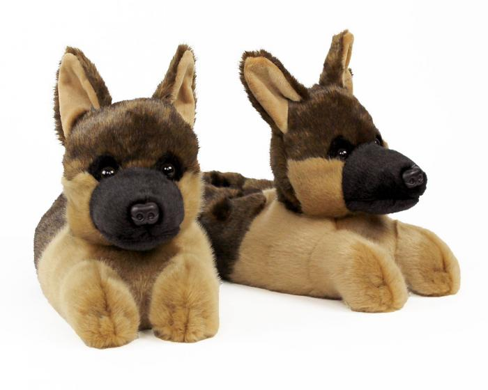 German Shepherd Slippers View 1