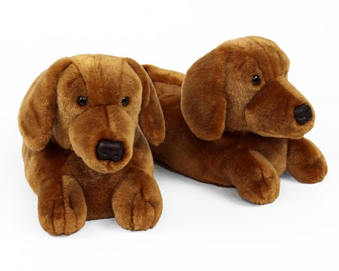 Dachshund Slippers View 1