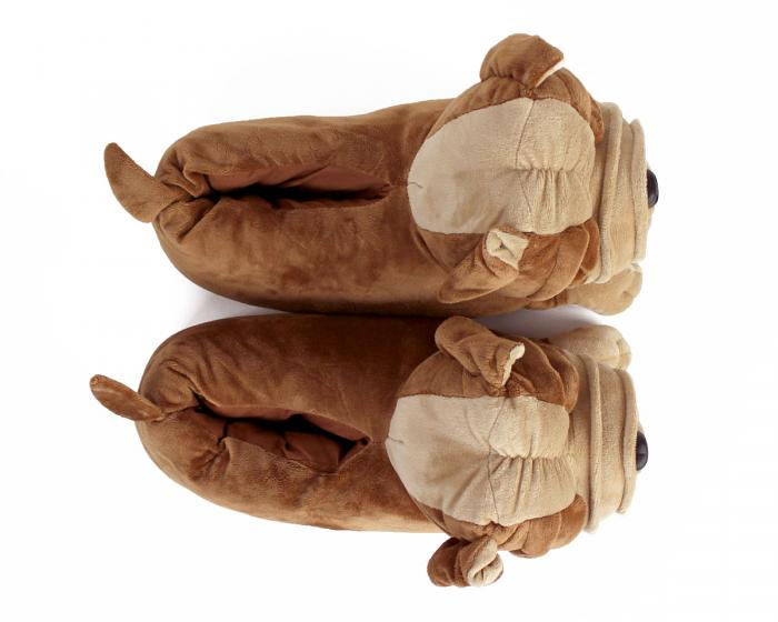 Bulldog Slippers Top View