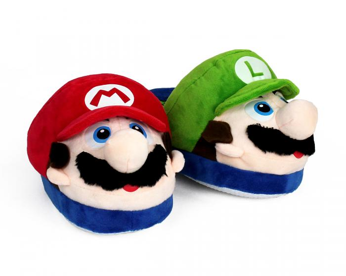 Kids Mario and Luigi Slippers View 1