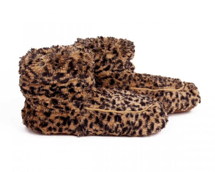 Cozy Leopard Slipper Boots View 2