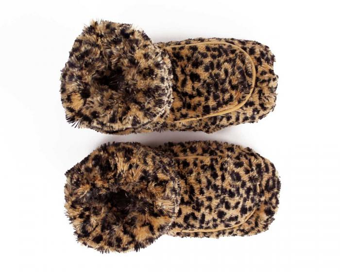 Cozy Leopard Slipper Boots View 3