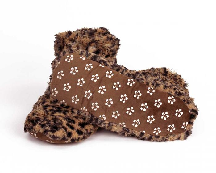 Cozy Leopard Slipper Boots View 4