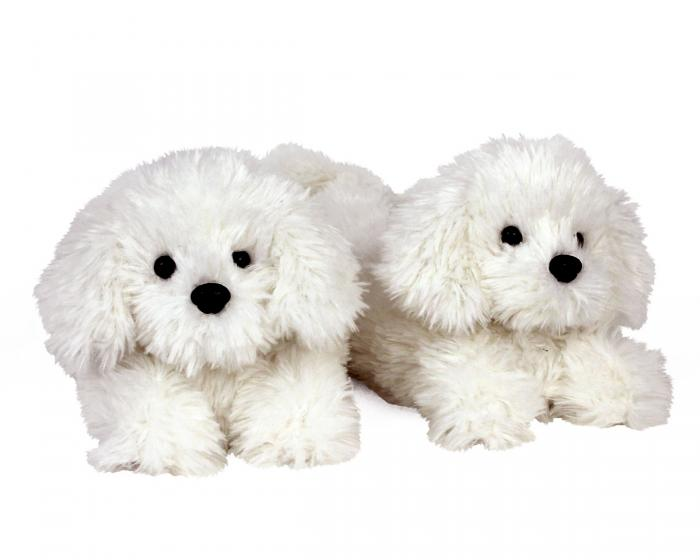 Bichon Frise Slippers 3/4 View