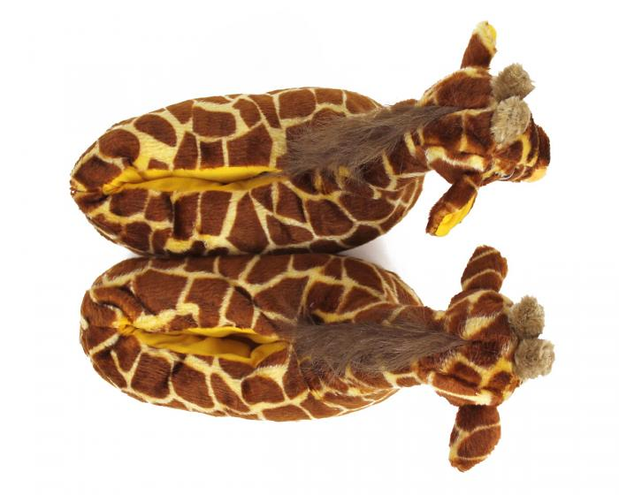 Giraffe Slippers Top View