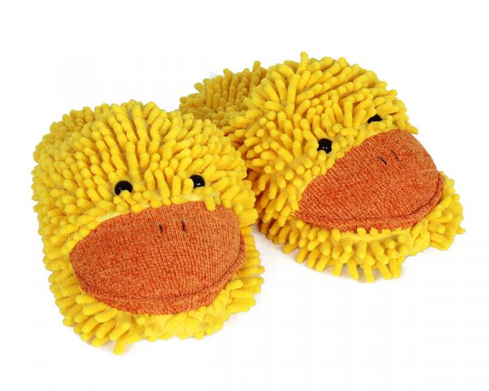 Fuzzy Duck Slippers 3/4 View