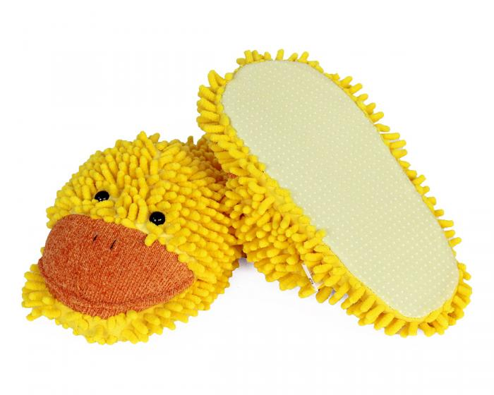Fuzzy Duck Slippers Bottom View