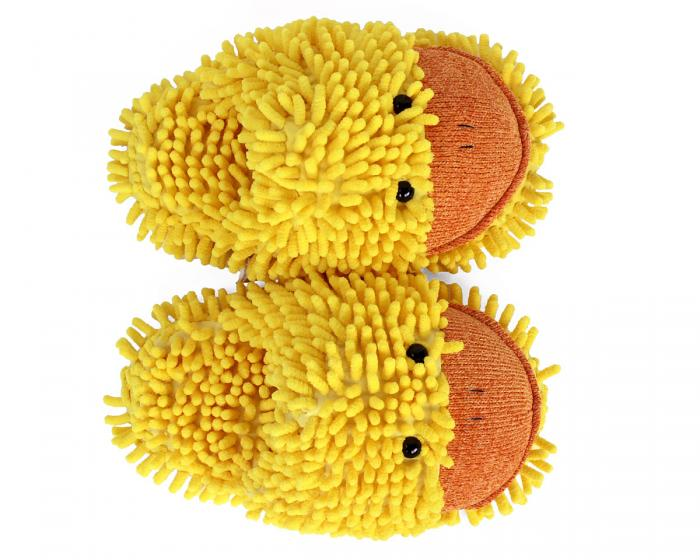 Fuzzy Duck Slippers Top View