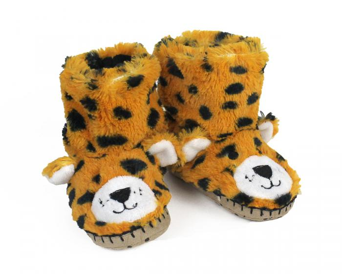 Kids Leopard Slouch Slippers 3/4 view