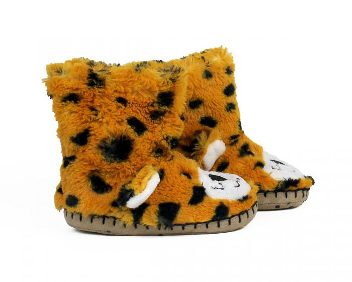 Kids Leopard Slouch Slippers side view