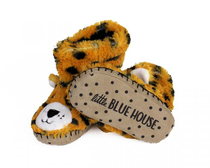 Kids Leopard Slouch Slippers bottom view