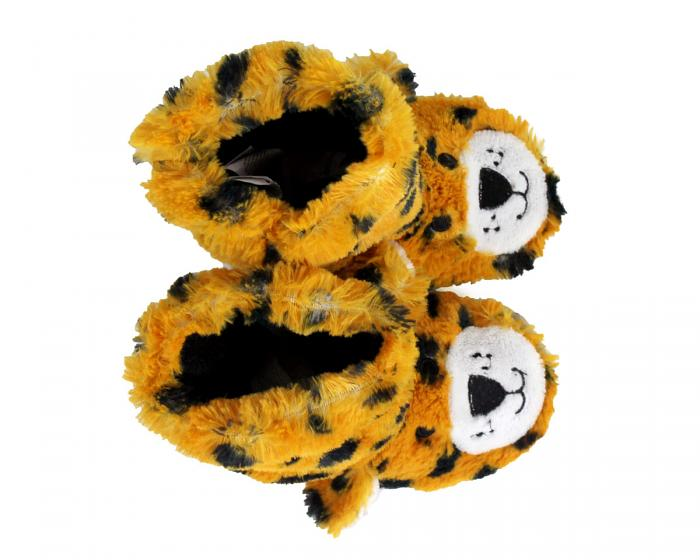 Kids Leopard Slouch Slippers top view