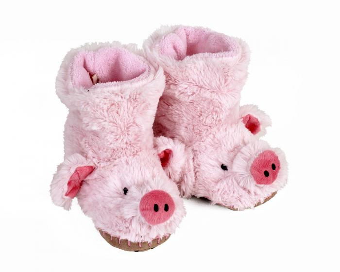 Kids Pig Slouch Slippers 1